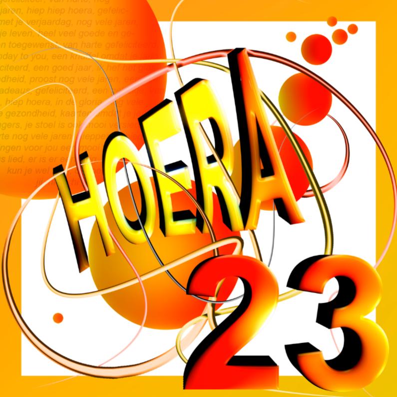 23 Jaar 4 Verjaardagskaarten Kaartje2go