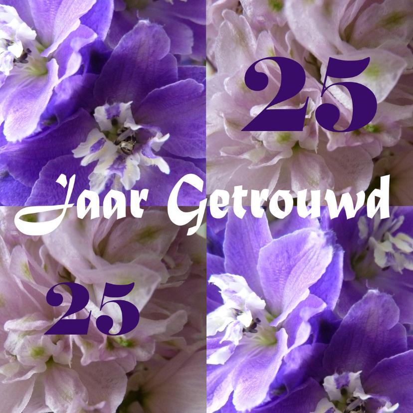 25 jaar Getrouwd bloemen 1