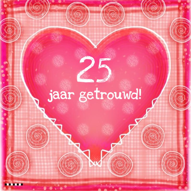 25 jaar getrouwd hart 1
