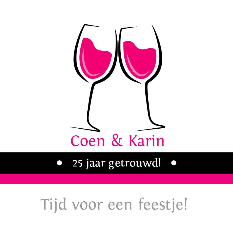 25 jaar getrouwd wijnglazen - SZ 1