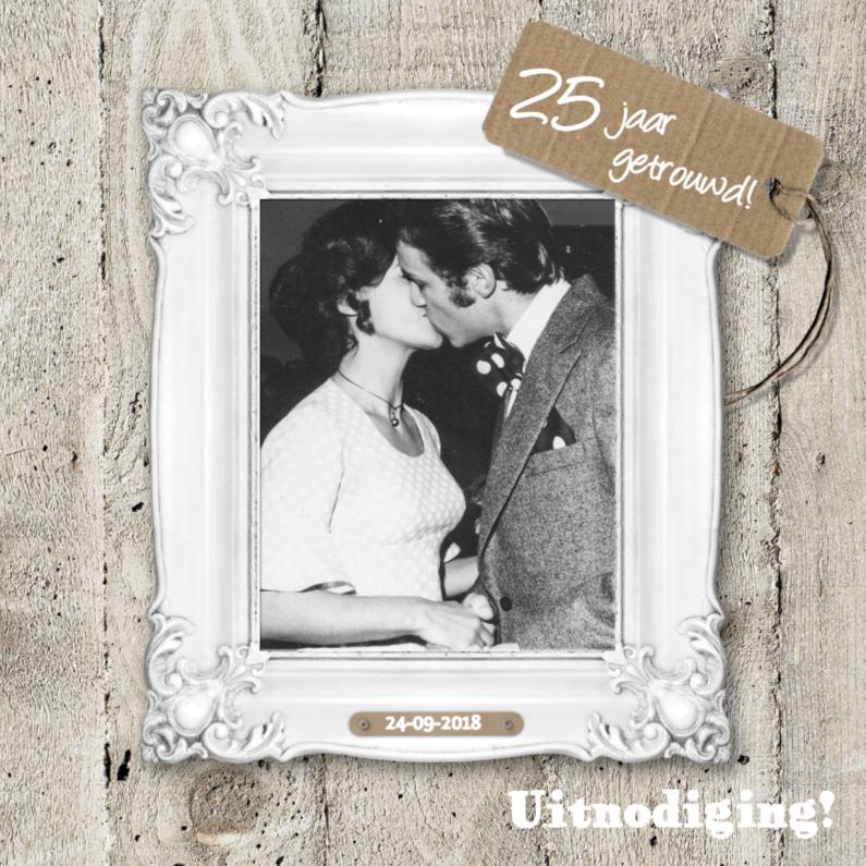 25 jaar huwelijk uitnodiging 1