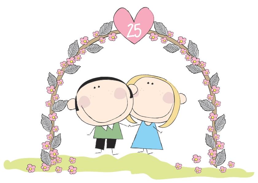 Jarig huwelijk uitnodigingen kaartje go