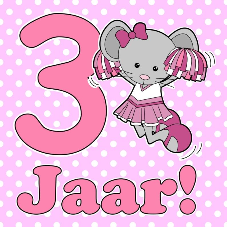 3 Jaar muis cheerleader 1
