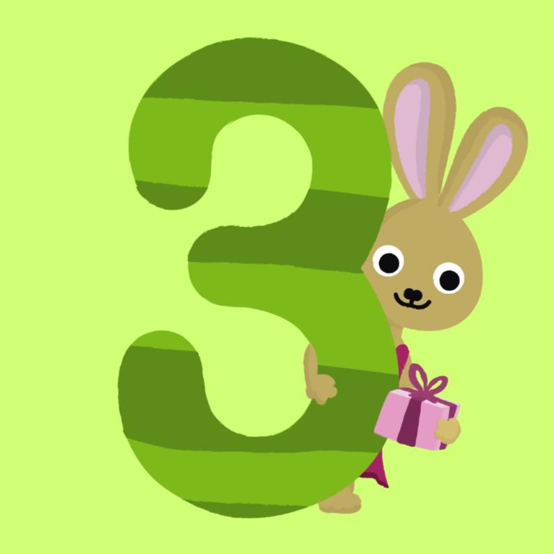 3 jaar verjaardag konijn 1