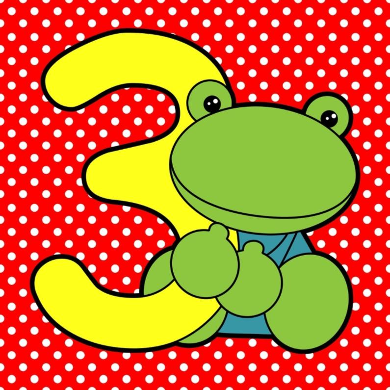 3e verjaardag gefeliciteerd verjaardagskaarten kaartje2go for Poppenhuis kind 2 jaar