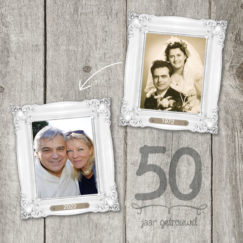 50 jaar huwelijk fotolijstjes 1
