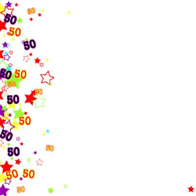 50 Vrolijke kaart met sterren 2