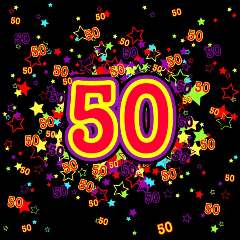 50 Vrolijke kaart met sterren 1