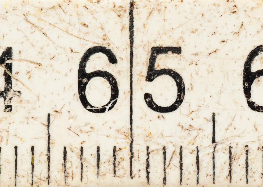 65 jaar op witte duimstok 1
