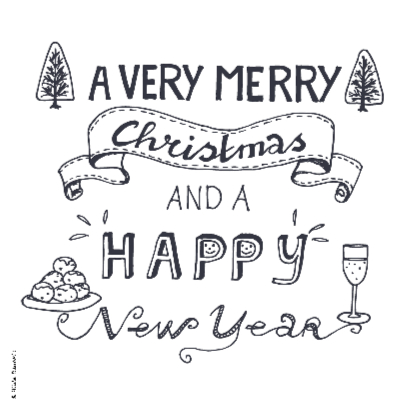 A very merry Christmas grijs 2