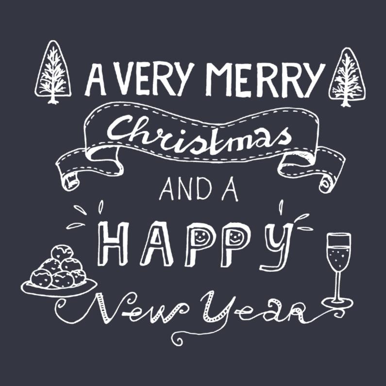 A very merry Christmas grijs 1