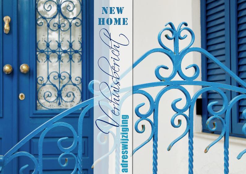 Adreswijziging griekse gevel blauw 1