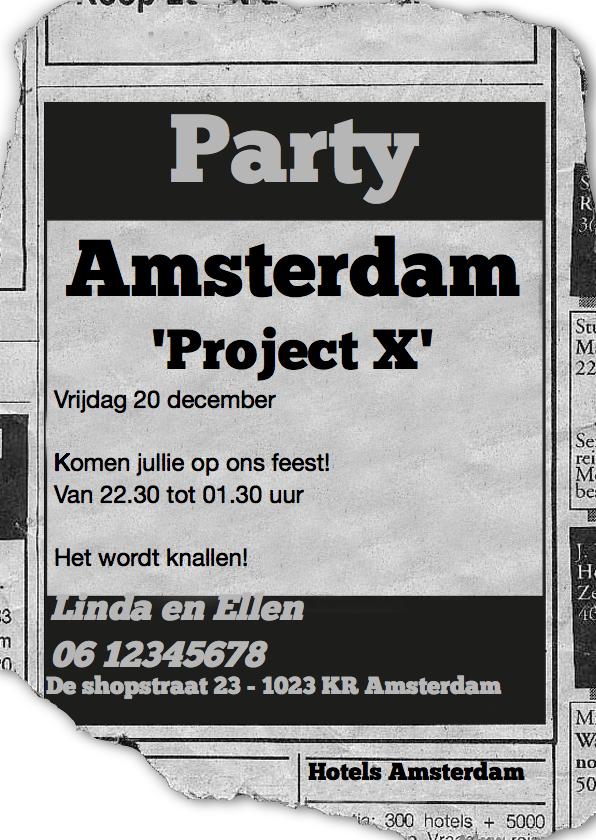 advertentie Project X 1
