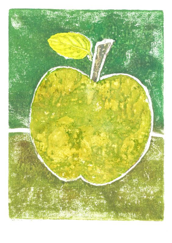 Afdruk van een  appel 1