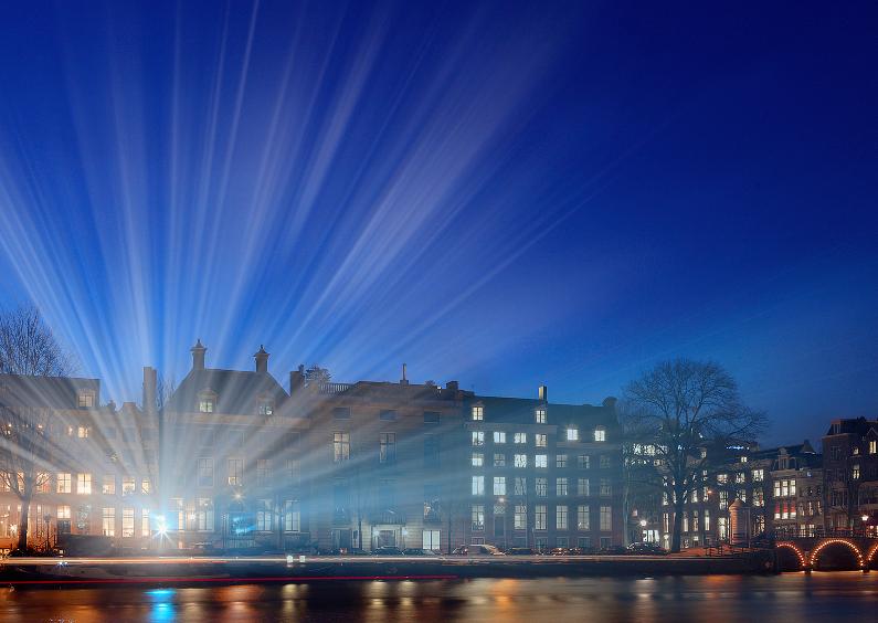 Amsterdamse grachten bij avond 1