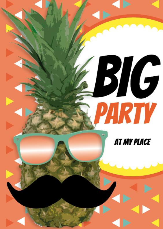 Ananas met snor Big Party 1