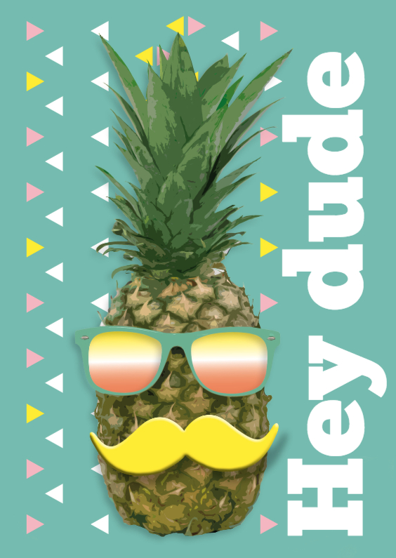 Ananas met snor Hey Dude! 1