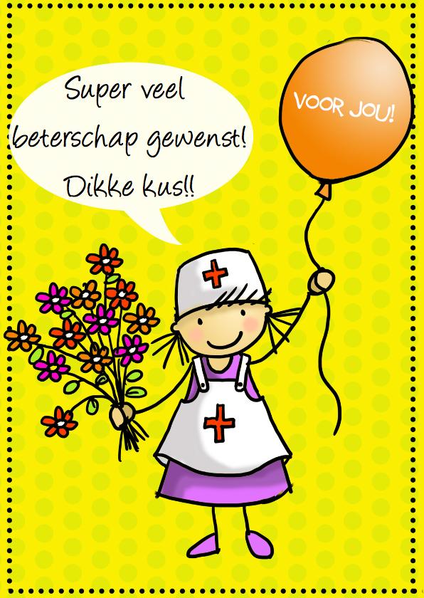 Anke met ballon en verpleegsterpak 1