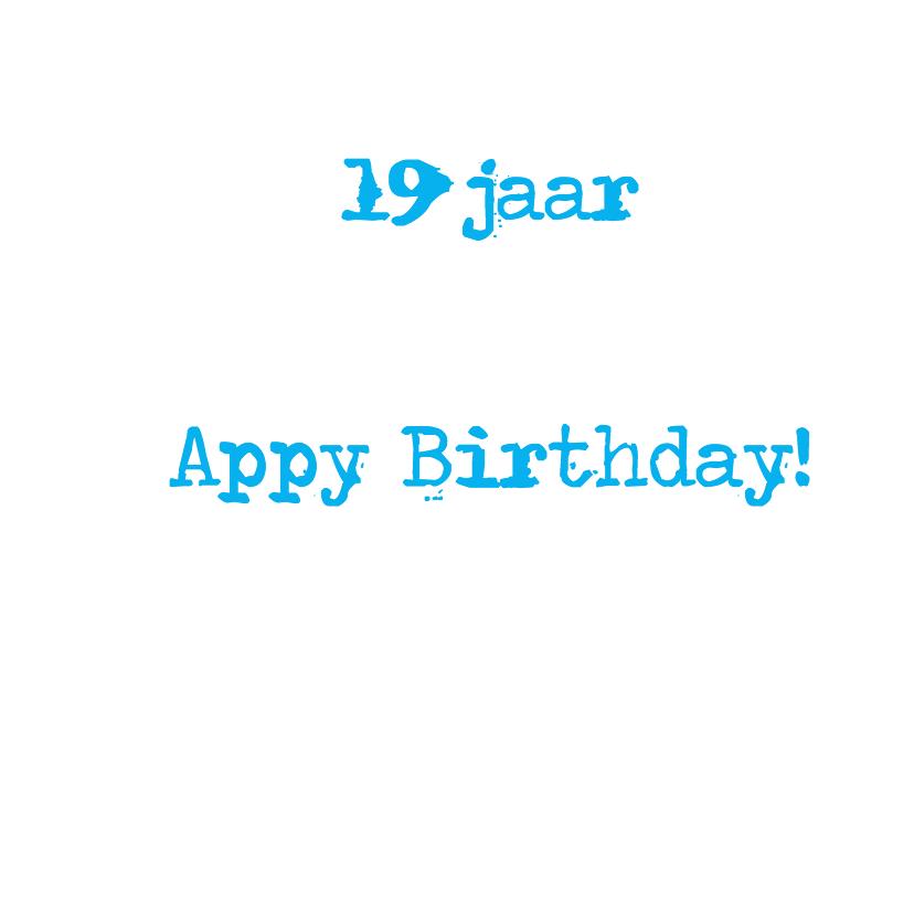 App icoon met leeftijd 19 3
