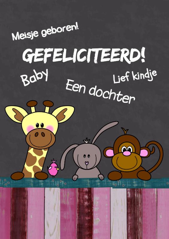 Baby geboren meisje - dieren HB 1