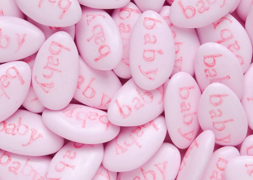 BABY op roze pastilles-groot 1