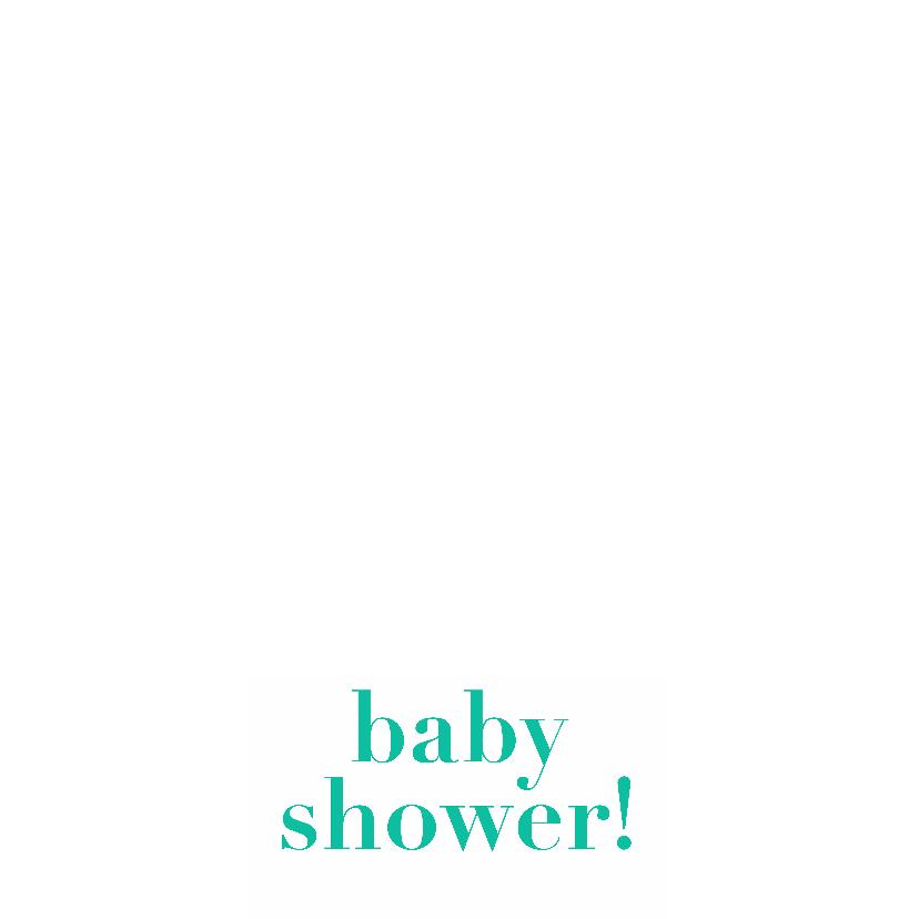Baby shower, groene kaart 3