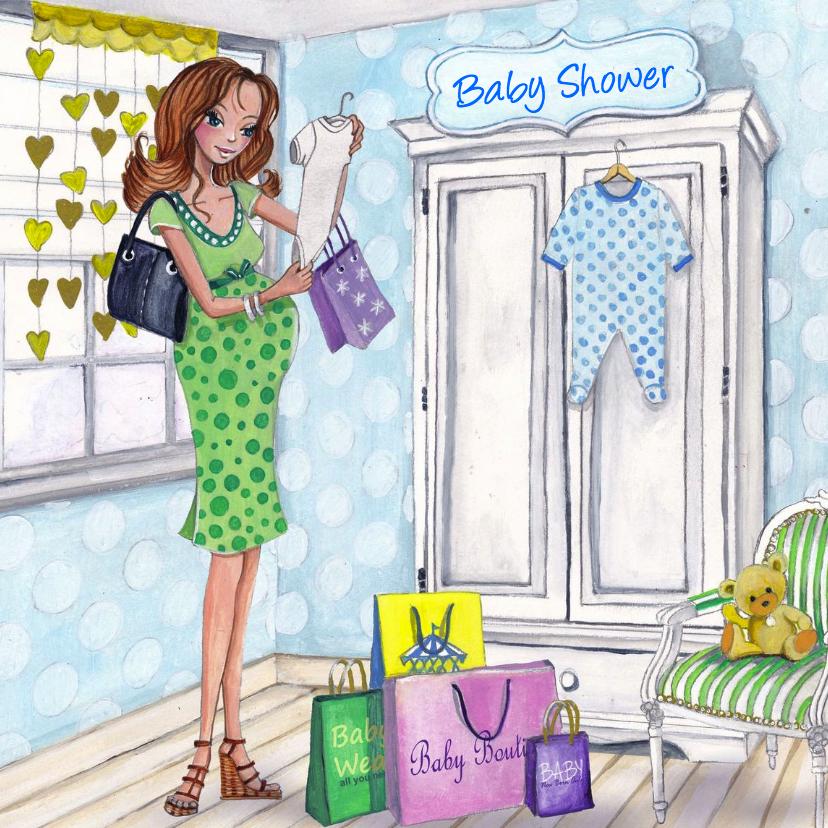 Baby shower shop illustratie 1