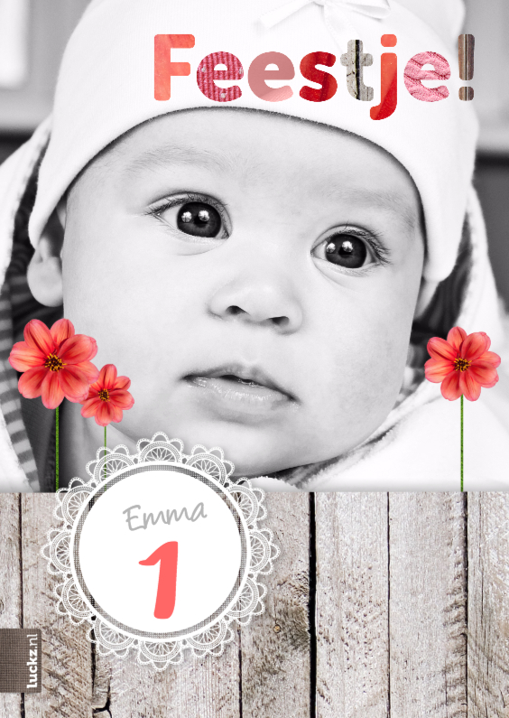 Baby uitnodiging 1