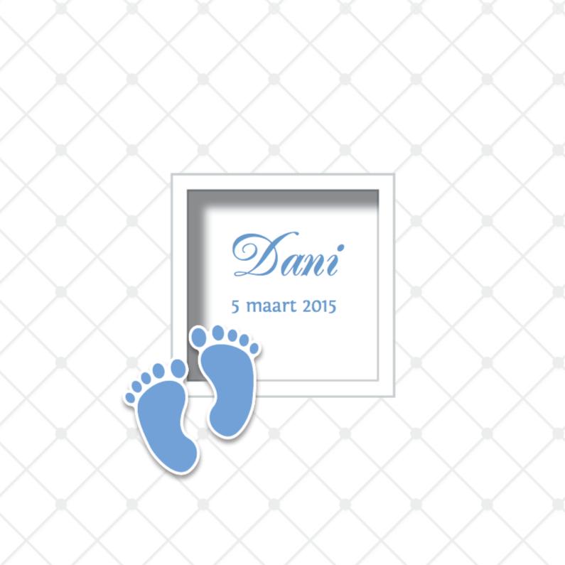 Babykaartje voetjes - LOVZ 1