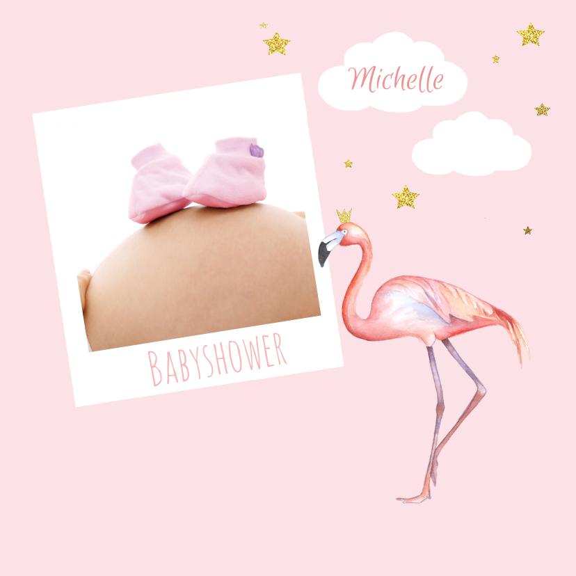 Babyshower flamingo foto 1
