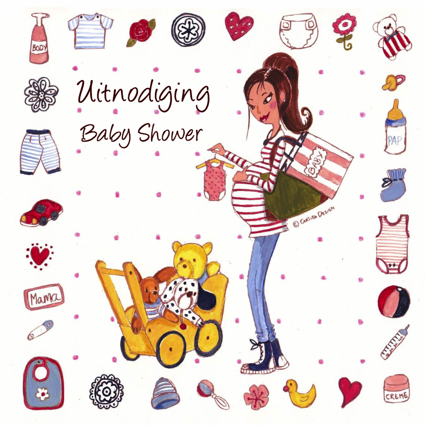 Babyshower Invitation Cartita Design 1