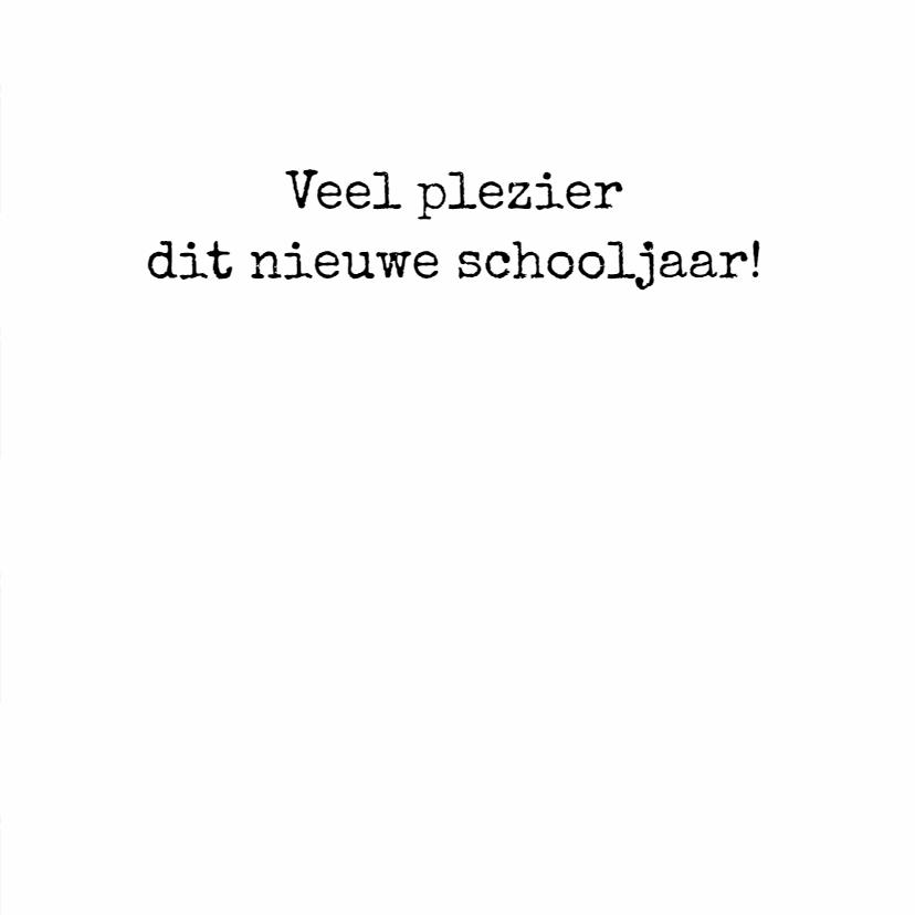 Back to school Kaart - WW 3