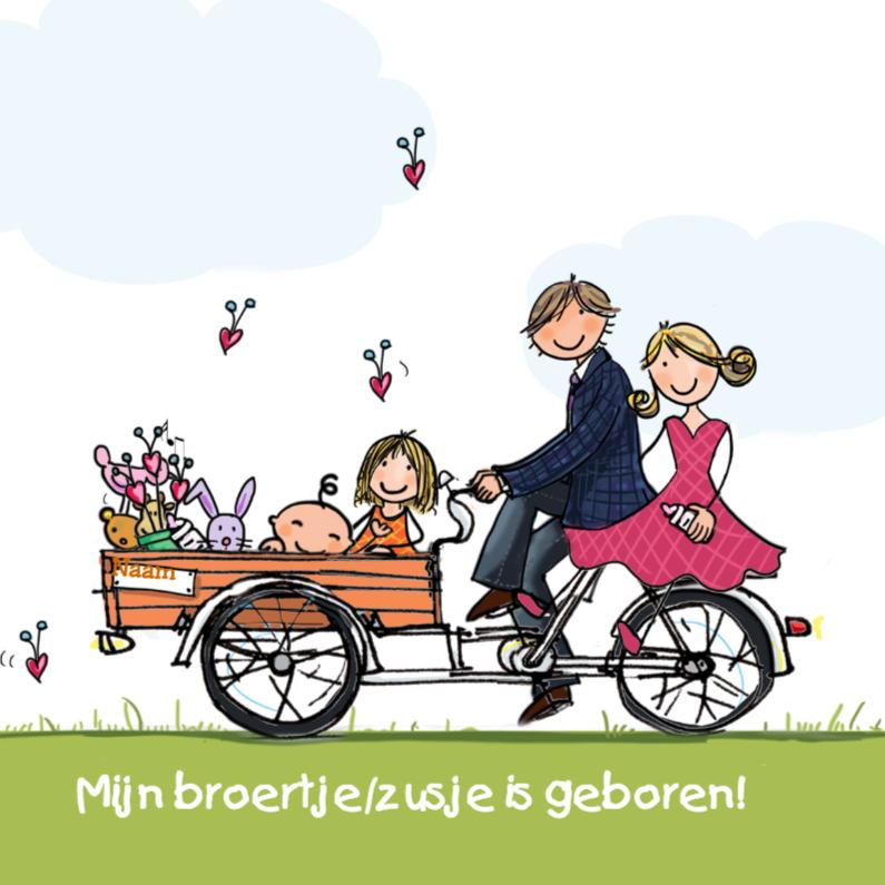 Bakfiets broertje zusje Anet Illustratie 1