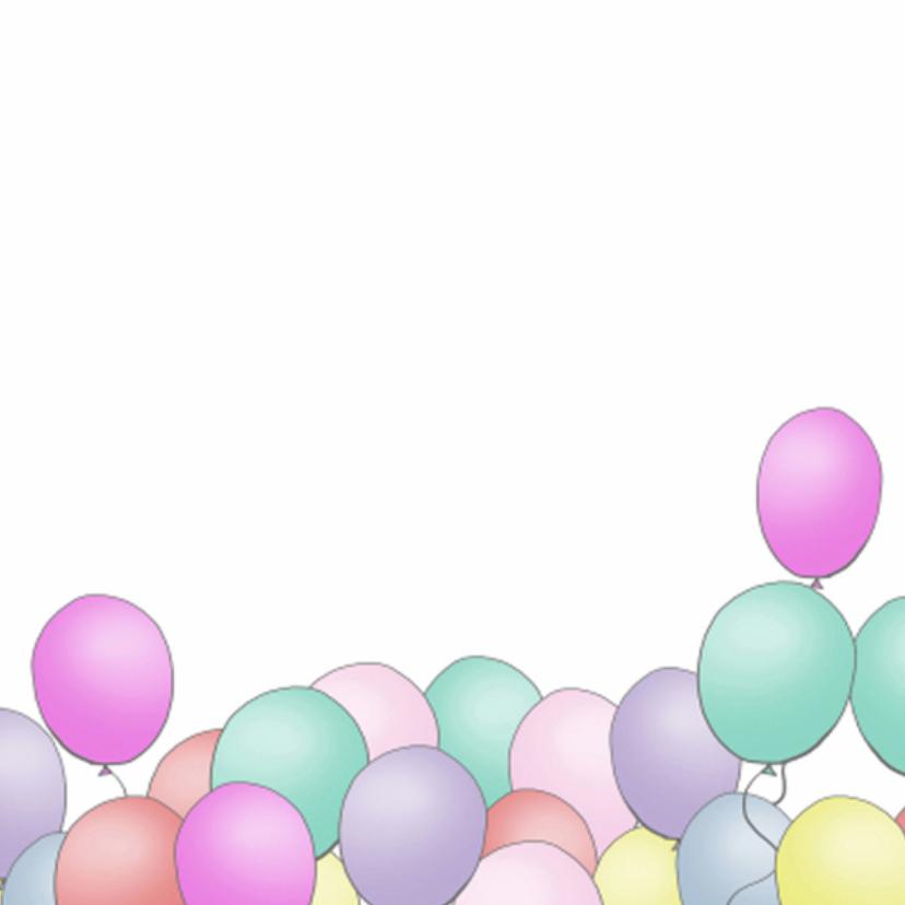 Ballonnen gefeliciteerd vierkant 2