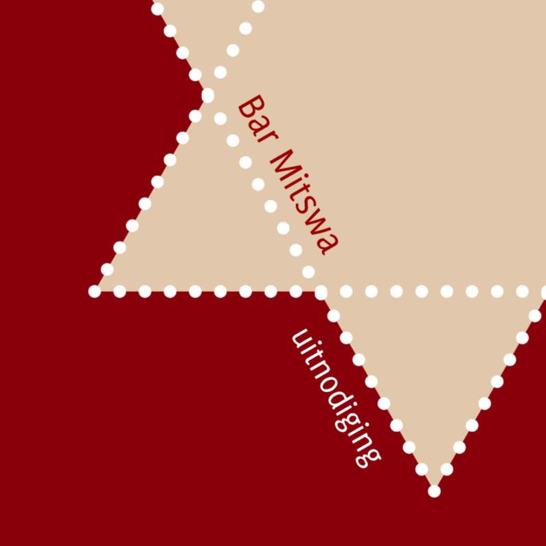 Bar mitswa - rood met ster 1