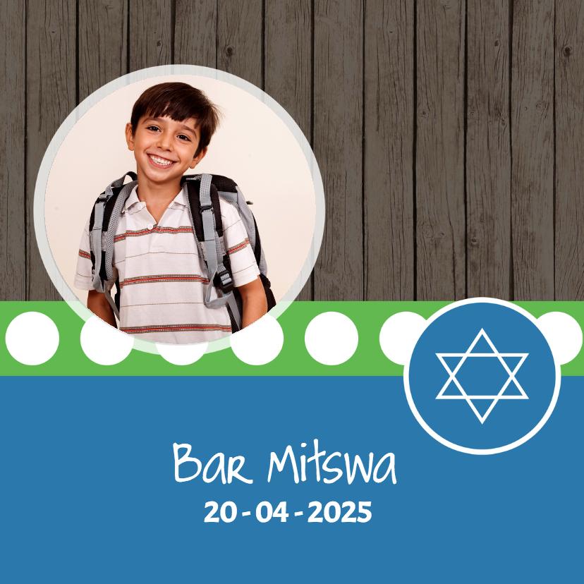 Bar Mitswa uitnodiging - DH 1