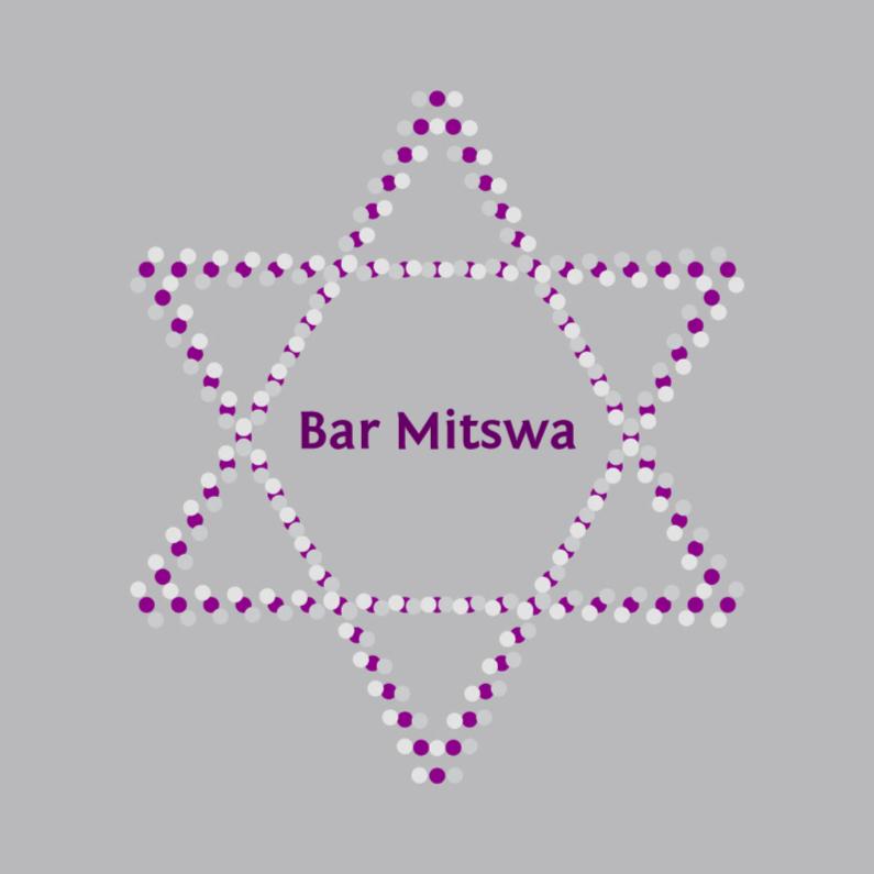 Bar mitswa - zilver met ster 1