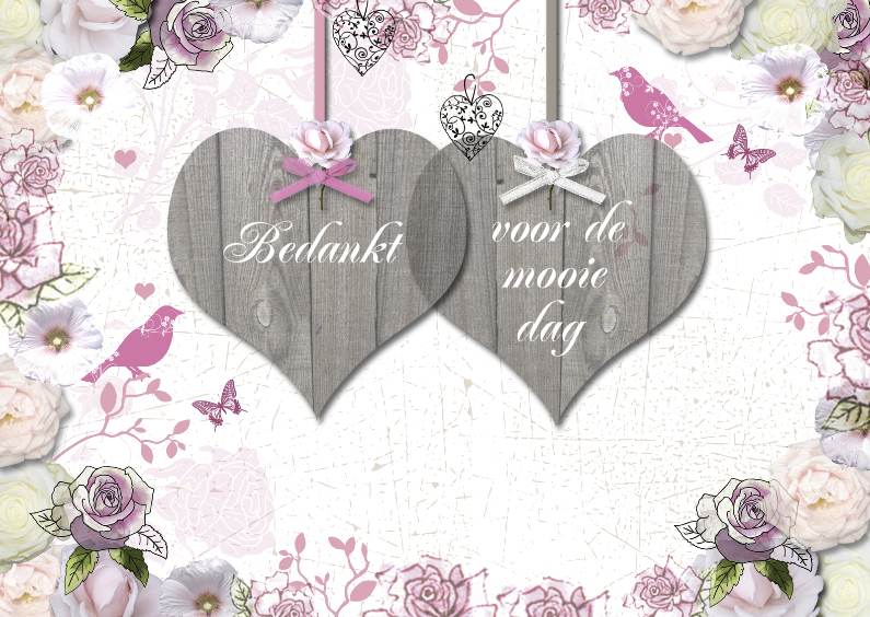 bedankt hartjes trouwen 1