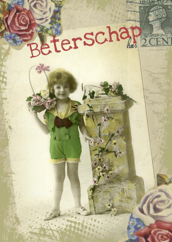 Beterschap bloemenmeisje vintage 1