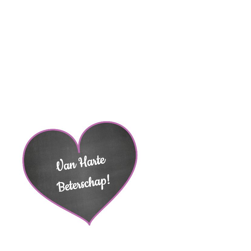Beterschap hart bloemen trendy 2