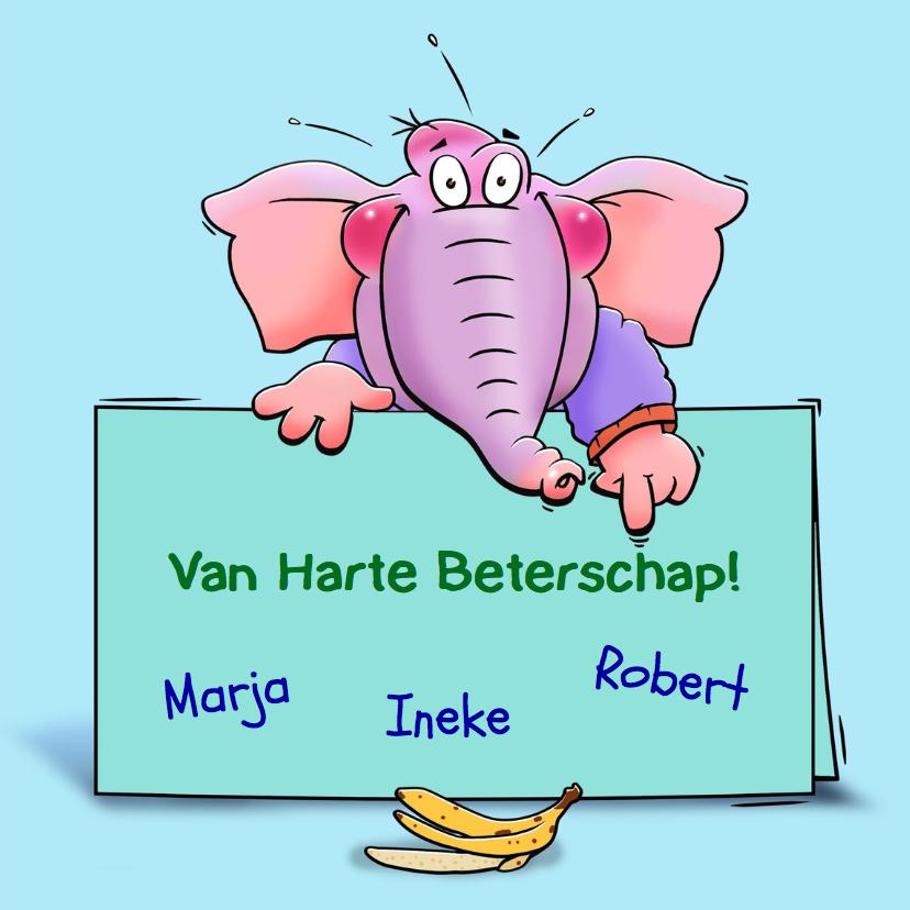 Beterschap met vallende olifant en banaan 3