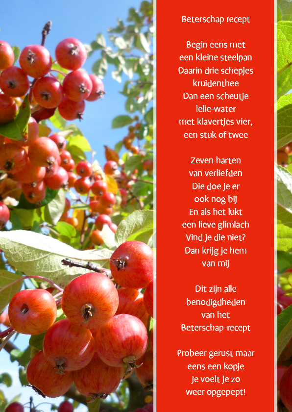 Beterschap recept 1