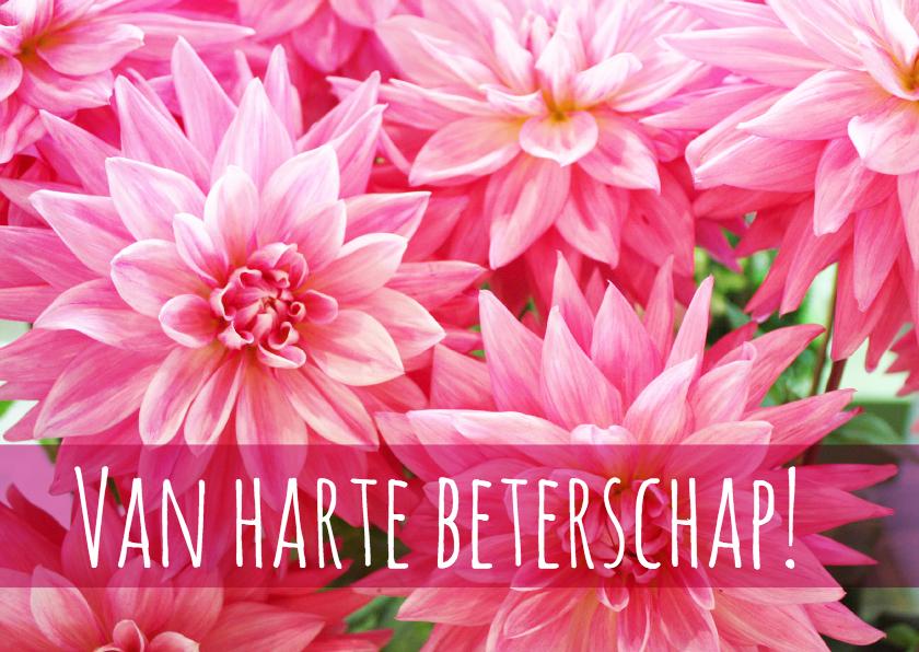 Beterschap vrolijke bloemenkaart 1