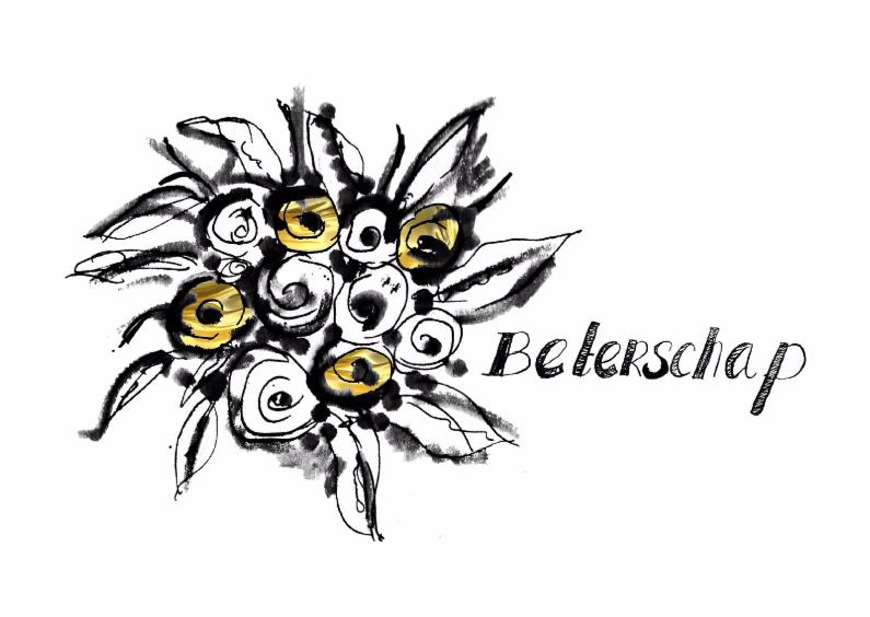 Beterschapskaart bos bloemen  1
