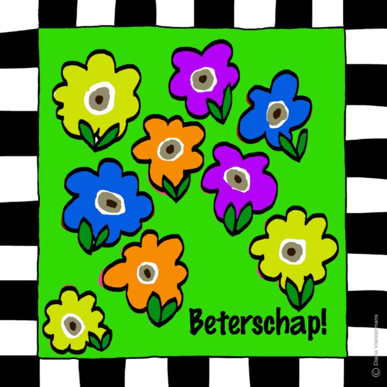 Beterschapskaart met bloemetjes 1