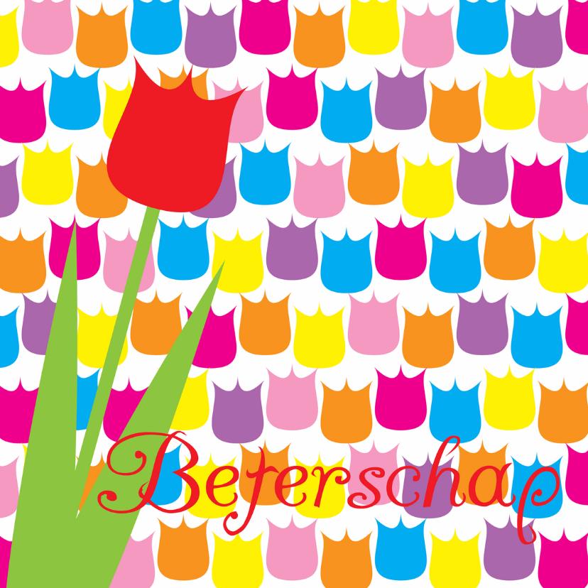 Beterschapskaart tulpen 1