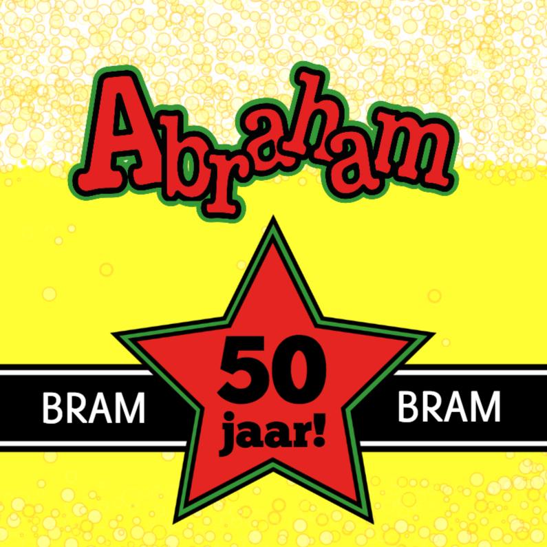 BIERTJE Felicitatie kaart ABRAHAM 1