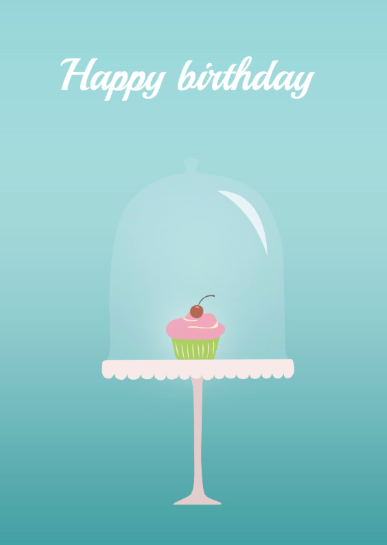 Birthday cupcake 1