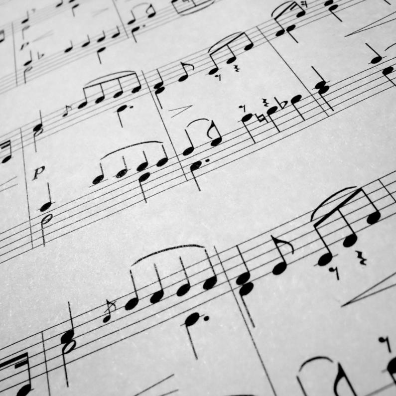 Bladmuziek zomaar kaart 1