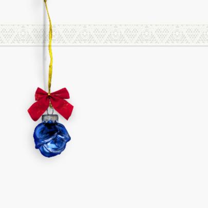 Blauw kerstballetje 2